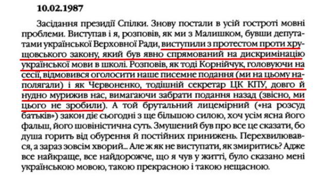 """О. Гончар, """"Щоденники"""", ст. 124 , Том III, 2003 р."""