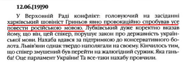 """О. Гончар, """"Щоденники"""", ст. 300 , Том III, 2003 р."""