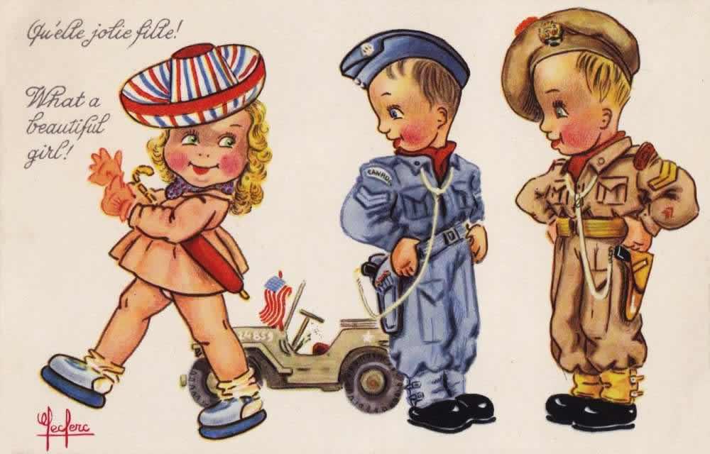 Какая красивая девушка! - 1944