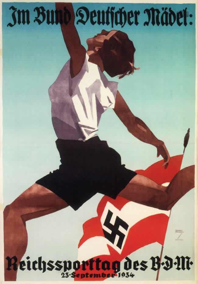 Общегерманский спортивный день Союза немецких девушек 23 сентября 1934 года