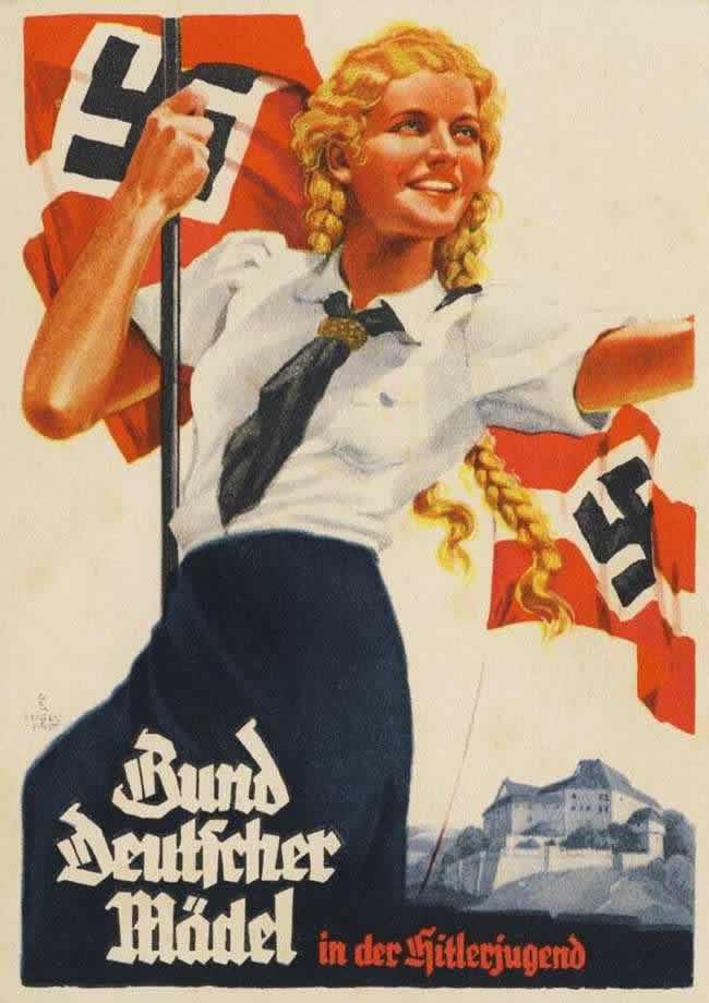 Союз немецких девушек в составе гитлерюгенда (1936 год)