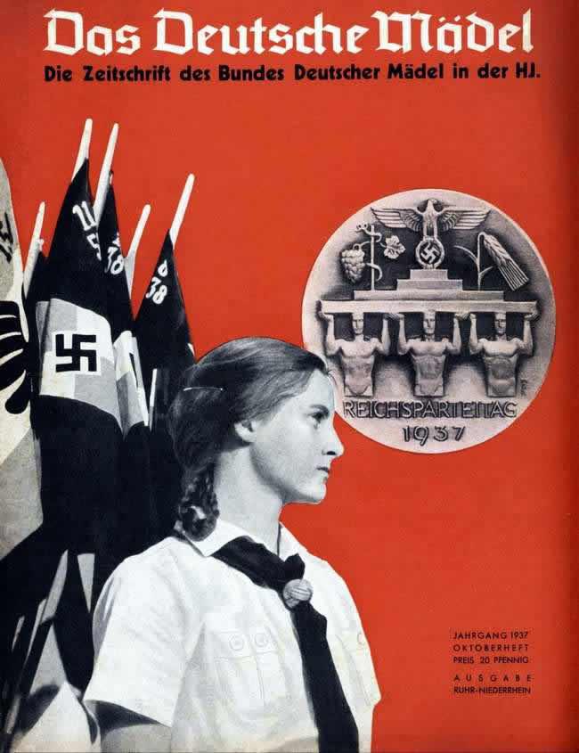 Обложка журнала Das Deutsche Madel Союза немецких девушек в составе гитлерюгенда (1937 год)