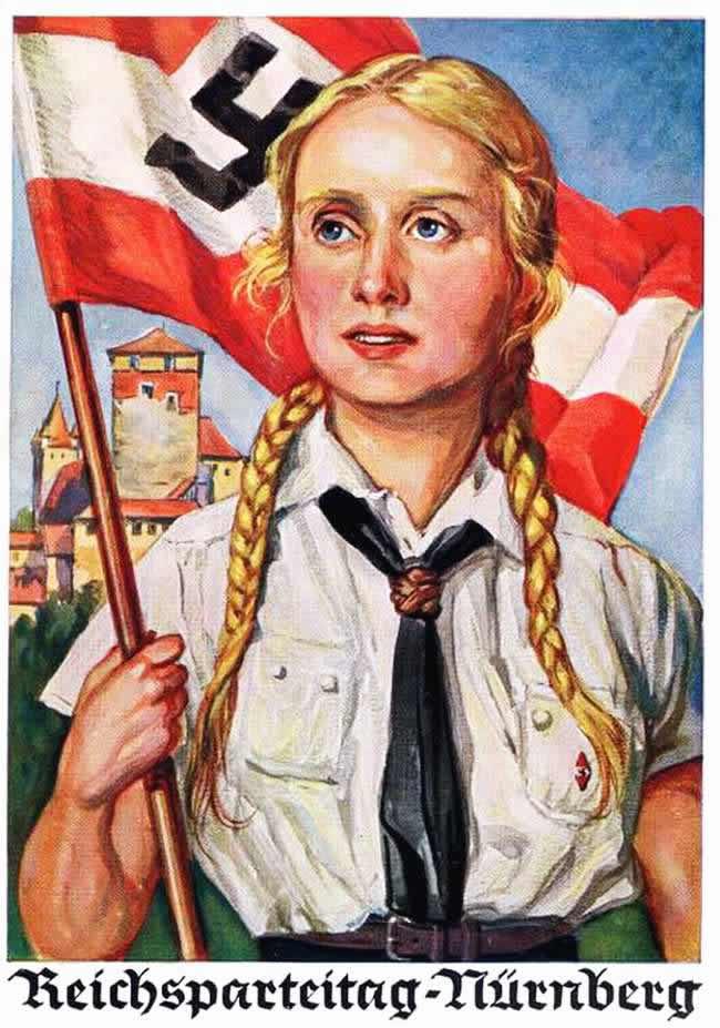 К общегерманскому съезду национал-социалистической партии в Нюрнберге