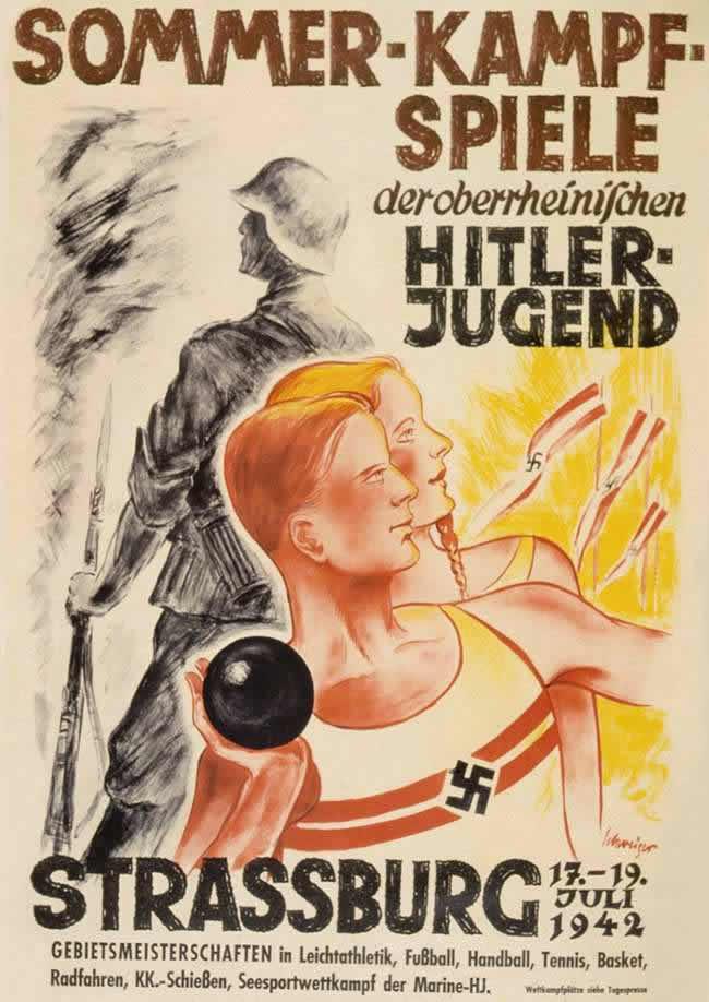 Летние спортивные соревнования организаций гитлерюгенда Верхнего Рейна в июле 1942 года