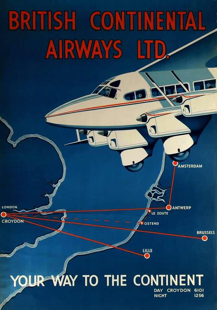 Авиакомпания british continental airways 1935 год