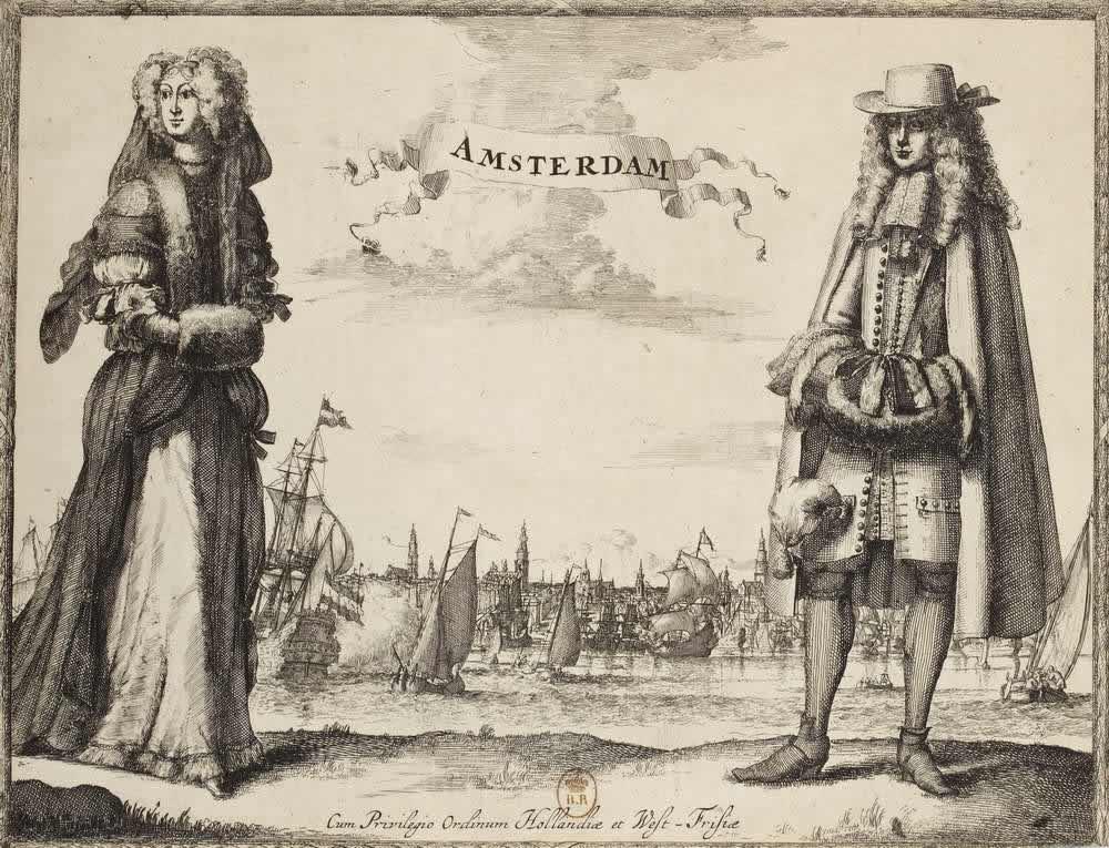 Костюмы жителей Амстердама (Голландия)