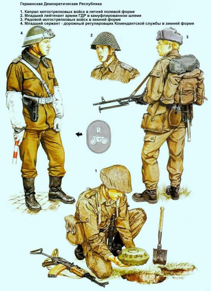 Германская Демократическая Республика - солдаты мотострелковых подразделений и коммендатской службы