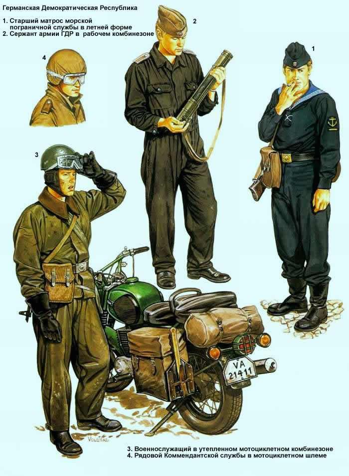 Германская Демократическая Республика - военнослужащие пограничной службы и армии ГДР