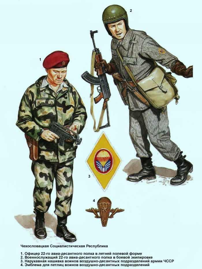 Чехословацкая Социалистическая Республика - военнослужащие 22-го авиа-десантного полка