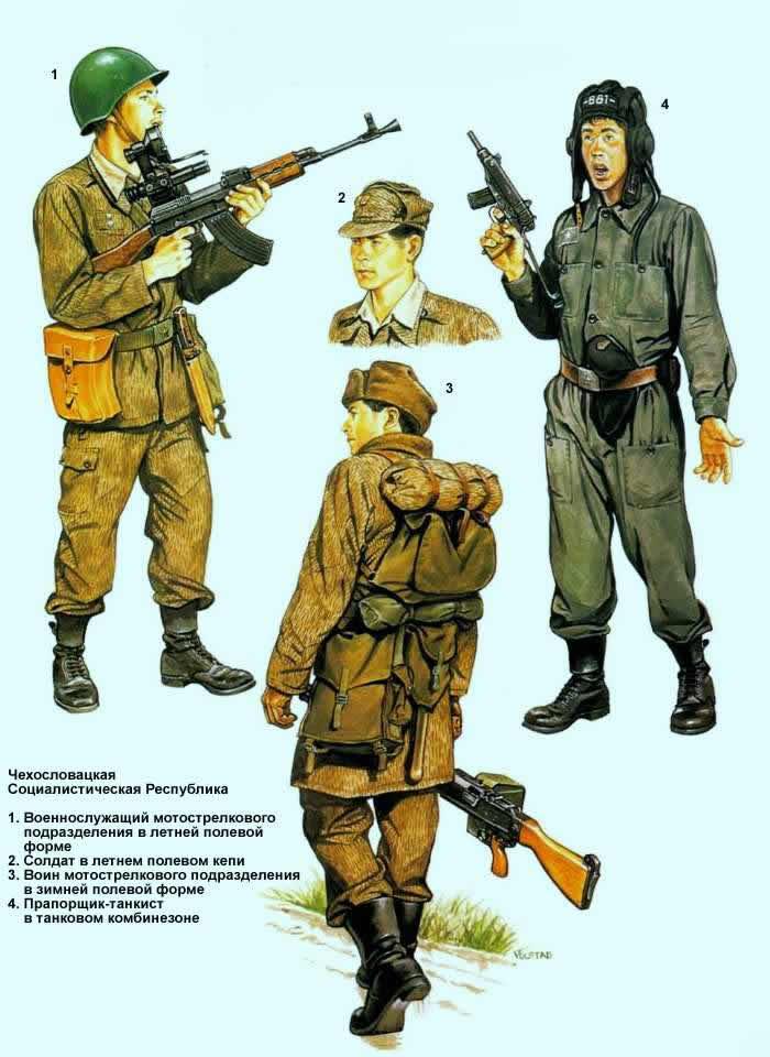 Чехословацкая Социалистическая Республика - военнослужащие мотострелковых и бронетанковых подразделений