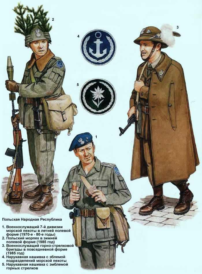 Польская Народная Республика - морская пехота и военнослужащие горно-стрелковых подразделений