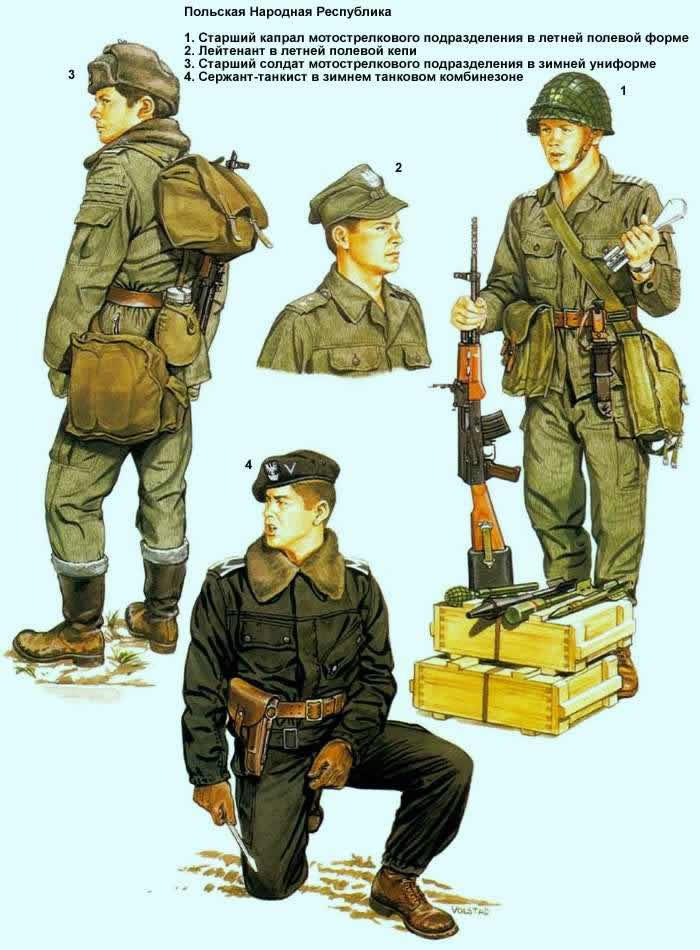 Польская Народная Республика - солдаты мотострелковых и бронетанковых подразделений