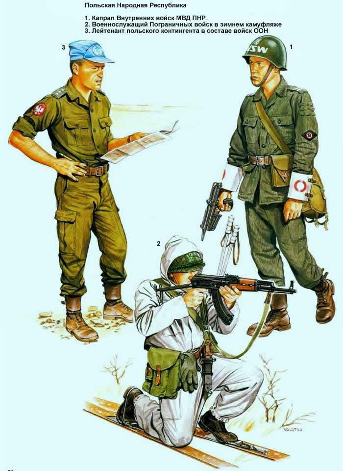 Польская Народная Республика - военнослужащие пограничных подразделений и внутренних войск