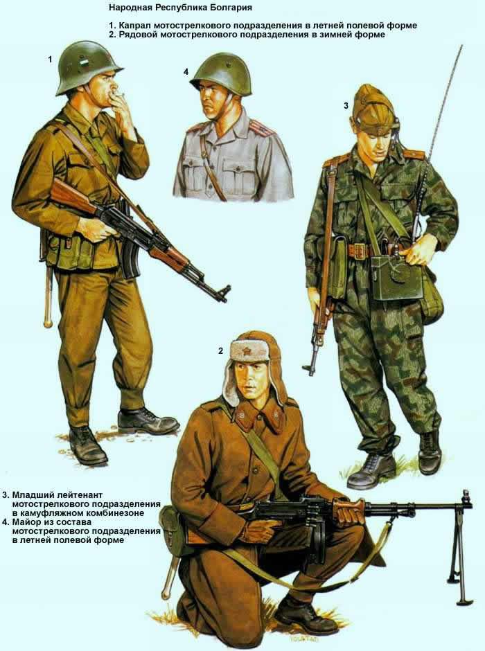 Народная Республика Болгария - солдаты мотострелковых подразделений