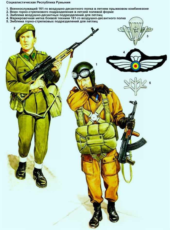 Социалистическая Республика Румыния - военнослужащие воздушно-десантных и горно-стрелковых подразделений