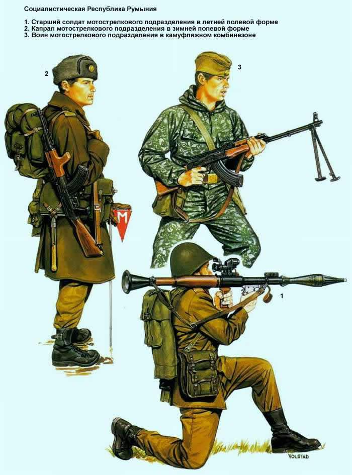 Социалистическая Республика Румыния - солдаты мотострелковых подразделений