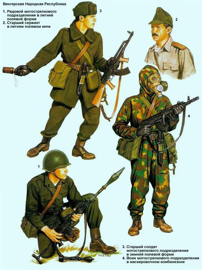 Венгерская Народная Республика - военнослужащие мотострелковых подразделений