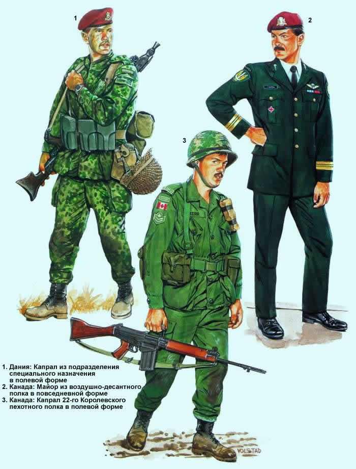 Военнослужащие армий Дании и Канады