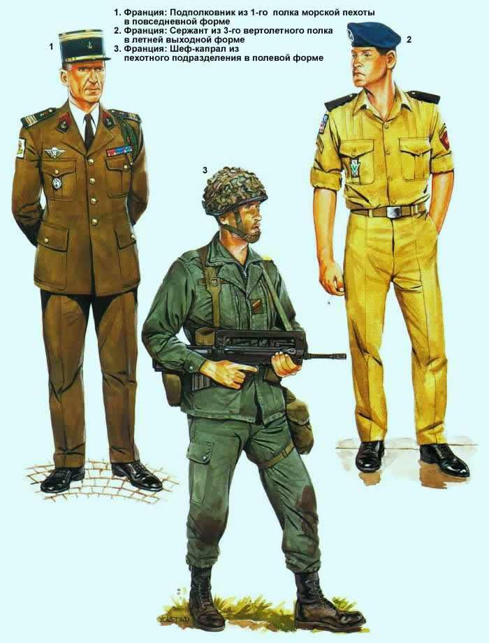 Военнослужащие французской армии
