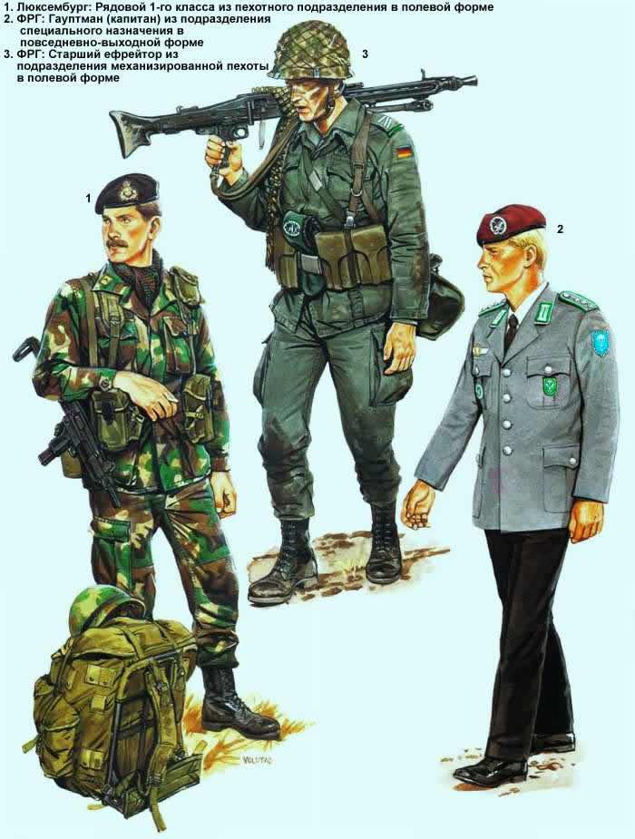 Военнослужащие армий Люксембурга и Федеративной Республики Германии