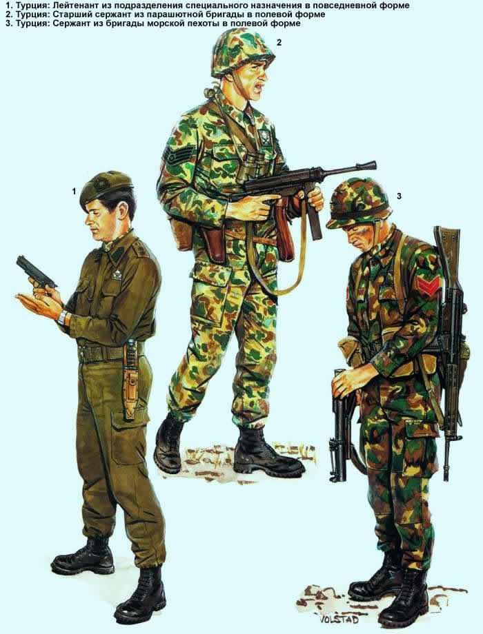 Военнослужащие турецкой армий