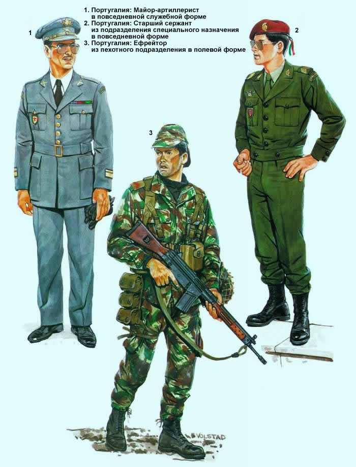 Военнослужащие португальской армии