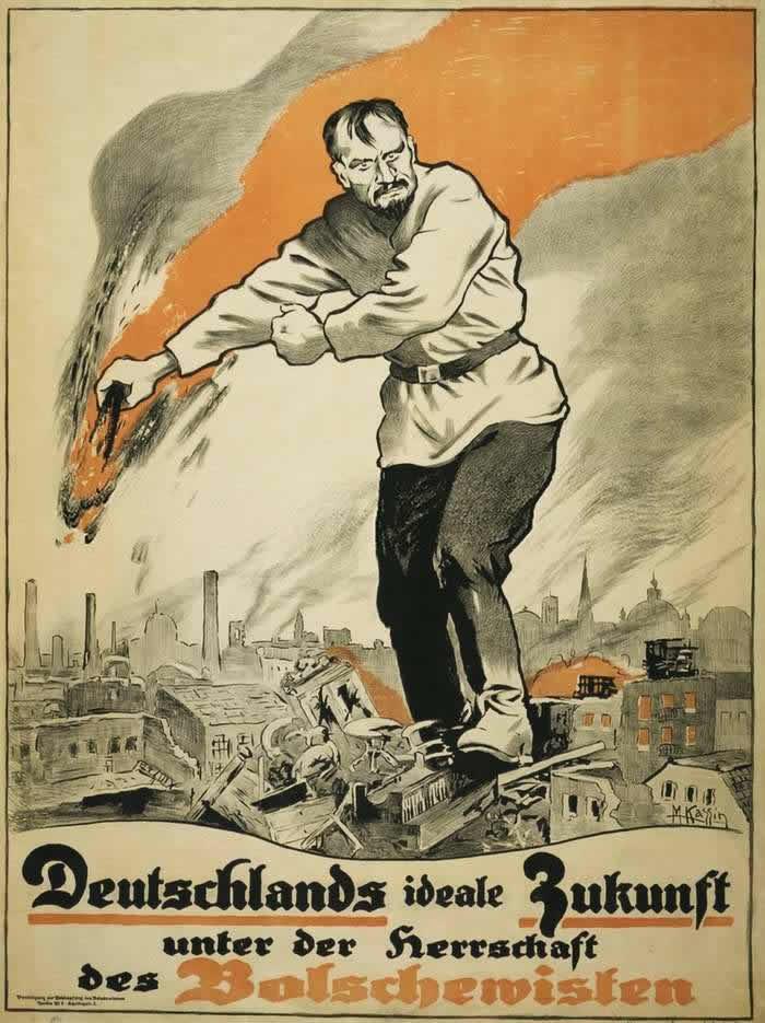 Идеальное будущее для Германии под властью большевиков (Германия, 1919 год)