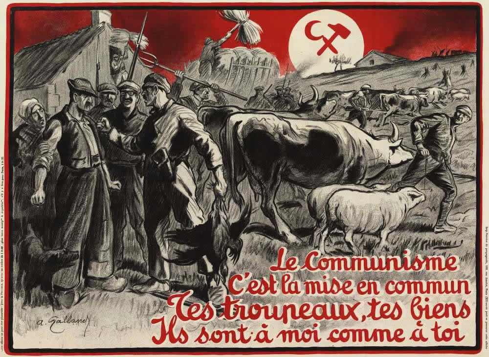 Коммунизм - это есть насильственный отъем всей частной собственности (Франция, 1927 год)