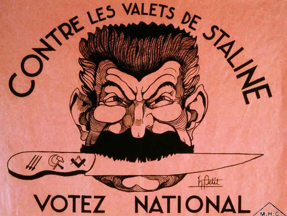 Всем народом проголосуем против прислужников Сталина (Франция, 1934 год)