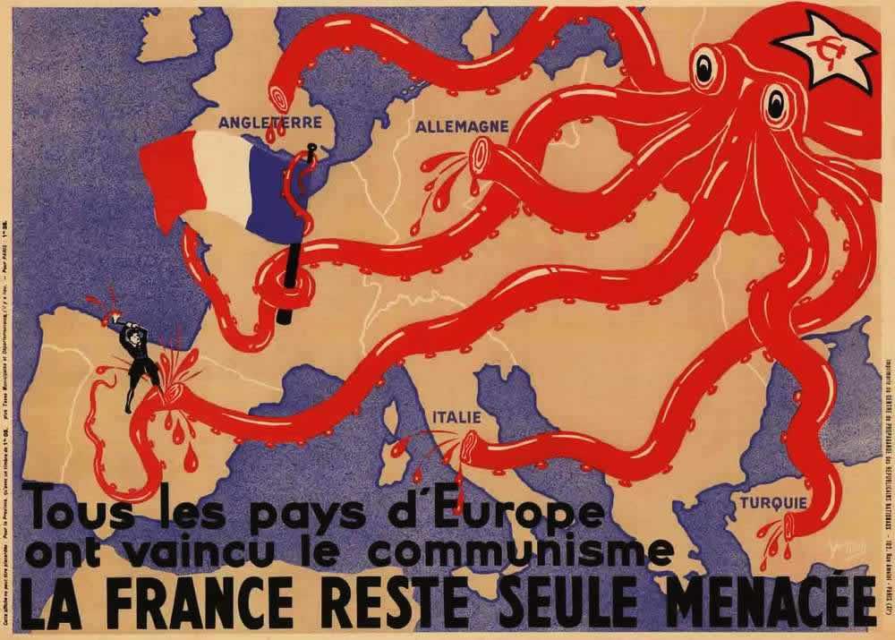 Западная карикатура - советский спрут