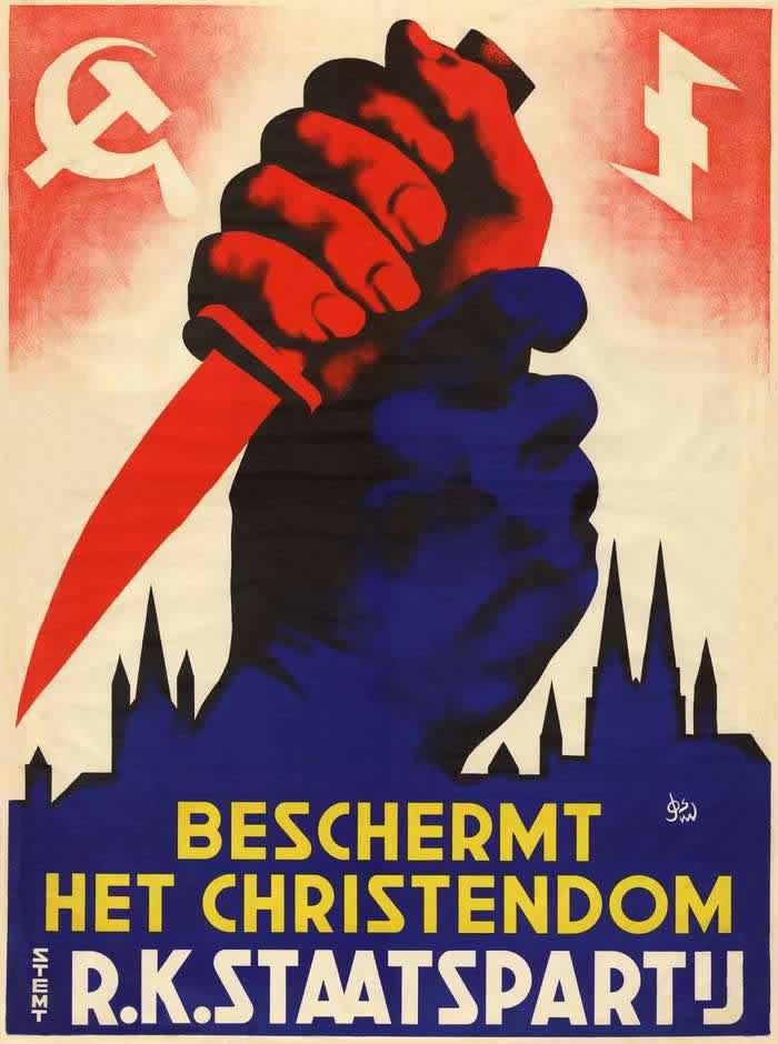 Римско-католическая государственная партия Нидерландов защищает христианские ценности (Нидерланды, 1938 год)
