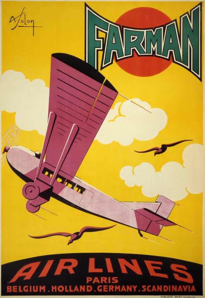 Авиакомпания Farman - полеты из Парижа в Бельгию, Нидерланды, Германию и Скандинавию (1926 год)
