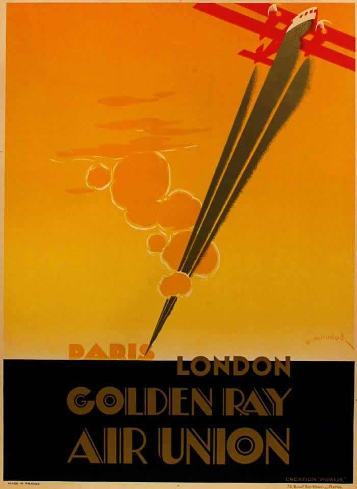 Авиакомпания Aur Union. Золотой луч - полеты по маршруту Париж - Лондон (1927 год)