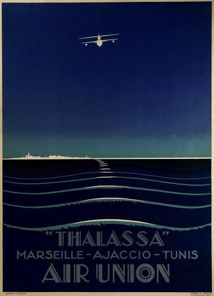 Авиакомпания Aur Union - полеты через Средиземное море по маршруту Марсель - Аяччо - Тунис (1927 год)