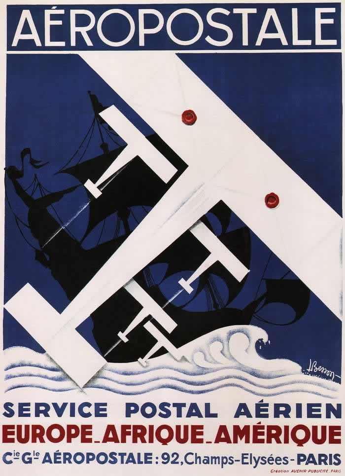 Авиакомпания Generale Aeropostale - авиапочтовые перевозки между Европой, Африкой и Америкой (1929 год)