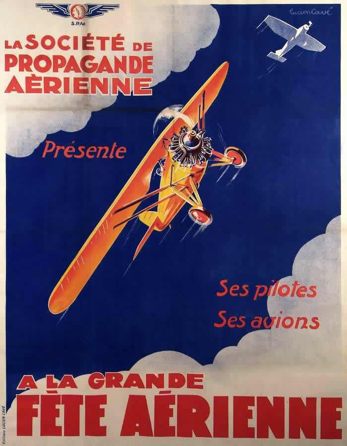 Общество пропаганды авиации представляет самолеты и пилотов, участвующих в больших показательных выступлениях (1930 год)