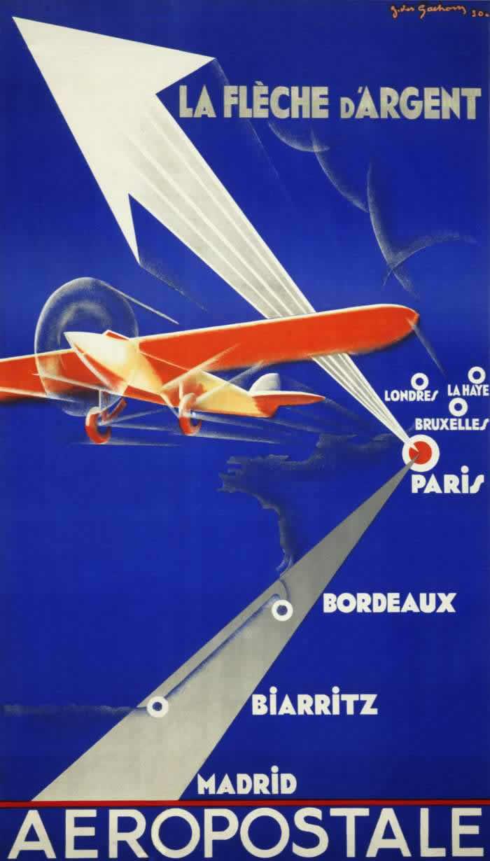 Авиакомпания Generale Aeropostale. Серебряные стрелы - скоростные авиапочтовые перевозки по разным направлениям (1930 год)