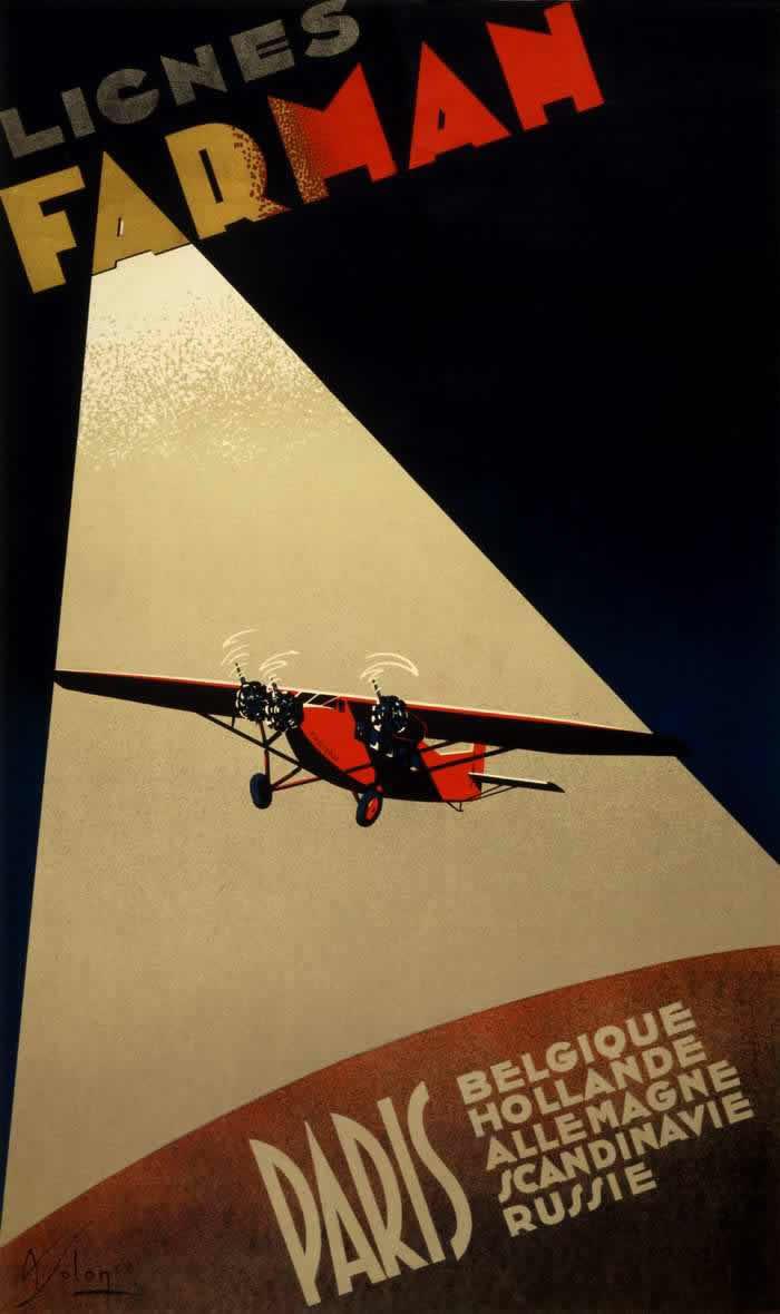 Авиакомпания Farman - полеты из Парижа в Бельгию, Нидерланды, Германию, Скандинавию и Россию (1932 год)