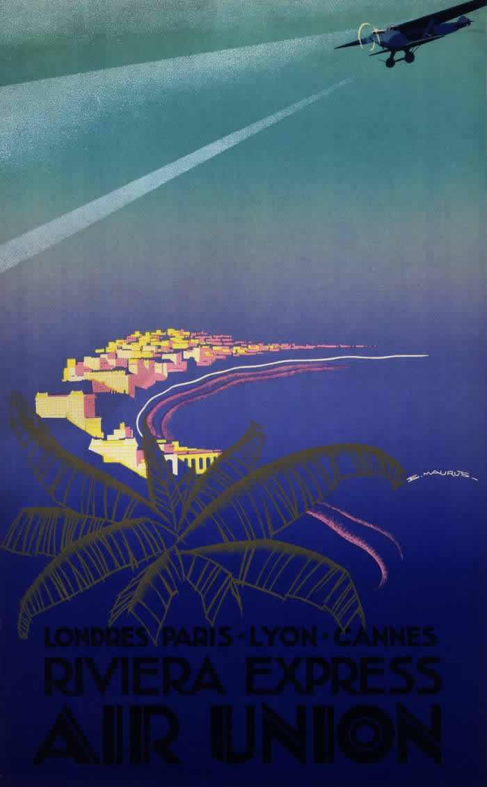 Авиакомпания Aur Union. Прибрежный экспресс - полеты по маршруту Лондон - Париж - Лион - Канны (1932 год)