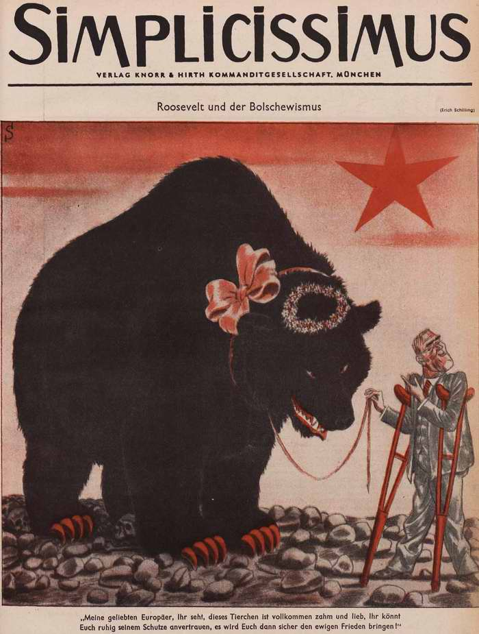 Рузвельт и большевизм (Simplicissimus)
