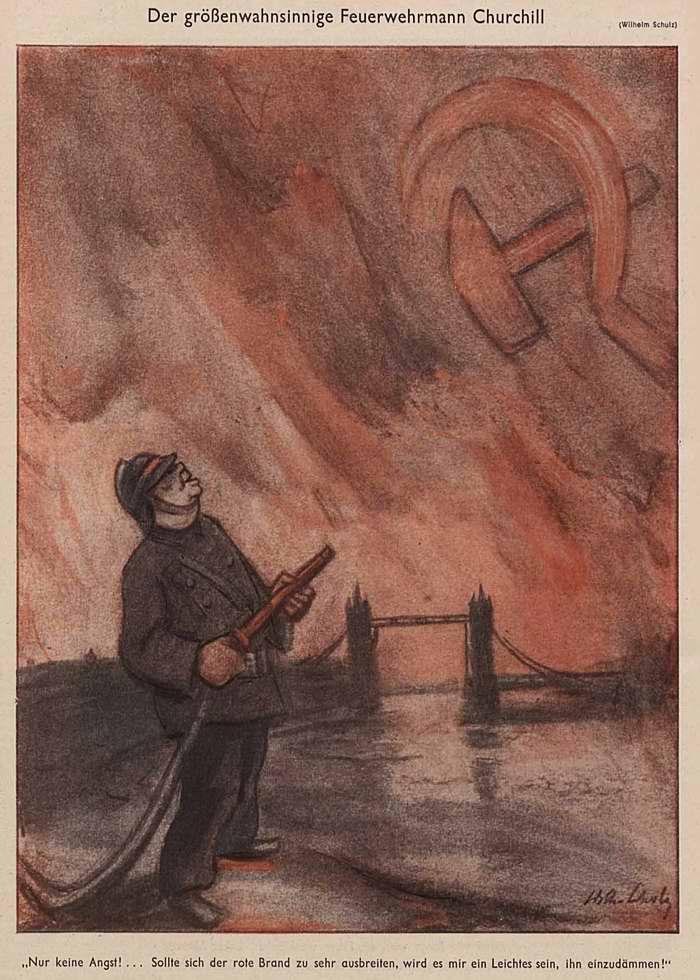 Мания величия у пожарного Черчилля (Simplicissimus)