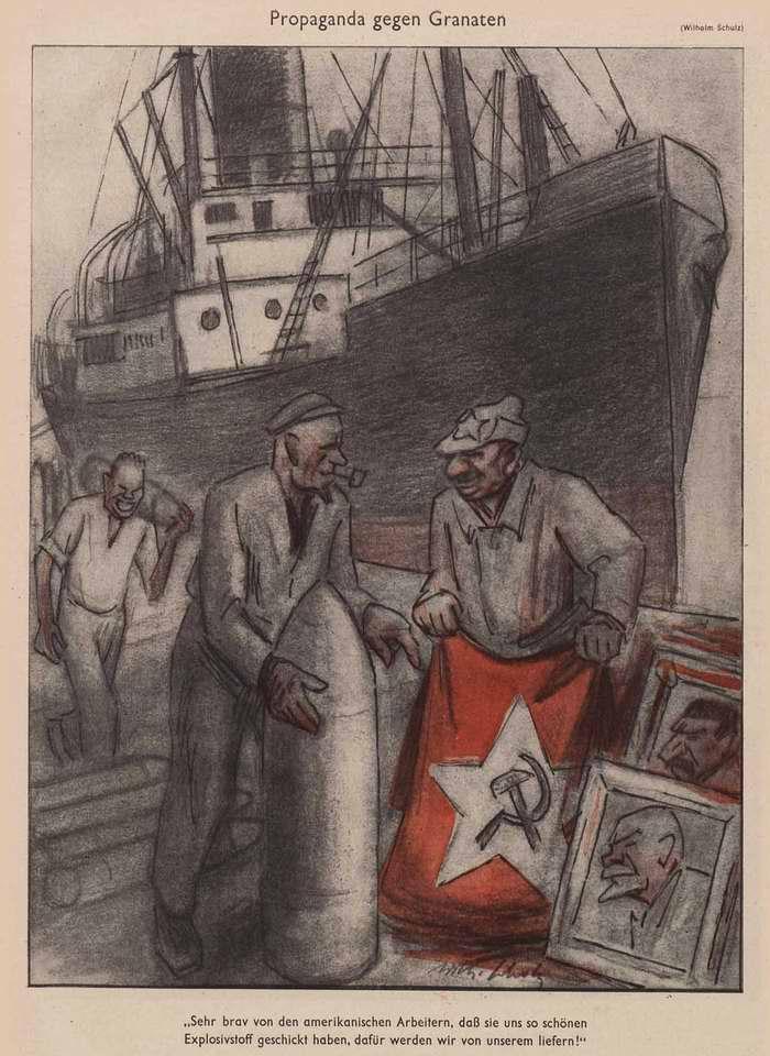 Пропаганда в обмен на снаряды  (Simplicissimus)