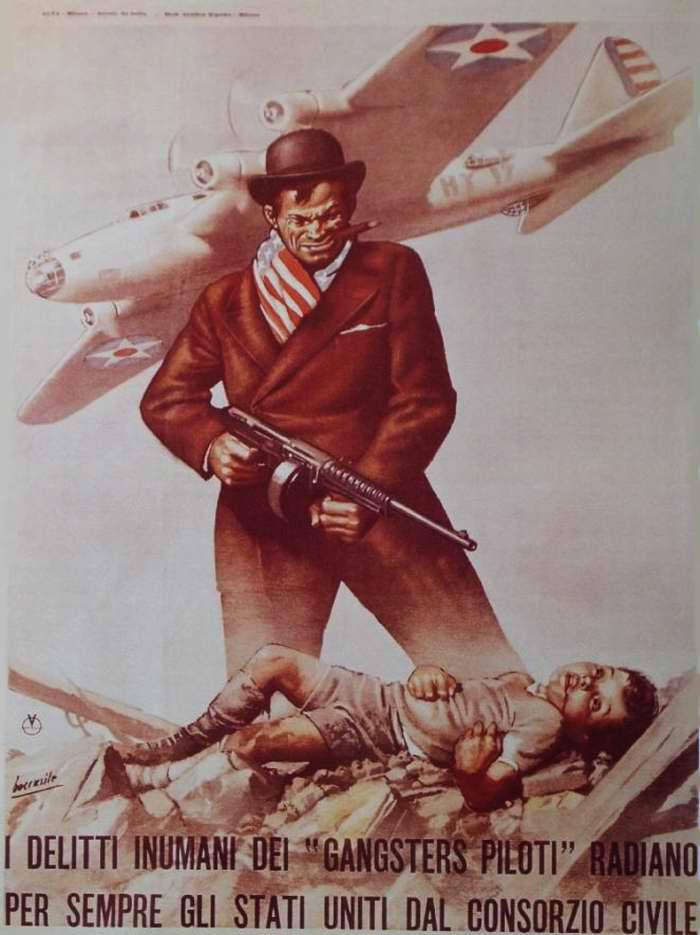 Бесчеловечные преступления летчиков-бандитов ВВС США против мирного итальянского населения