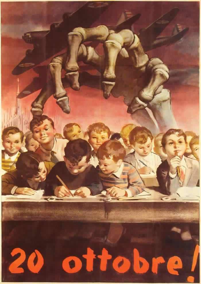20 октября 1944 года (день гибели 184 учеников начальной школы в Милане в результате американской бомбардировки)