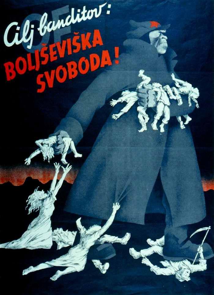 Цель бандитов - установление большевистской свободы (1944 год)