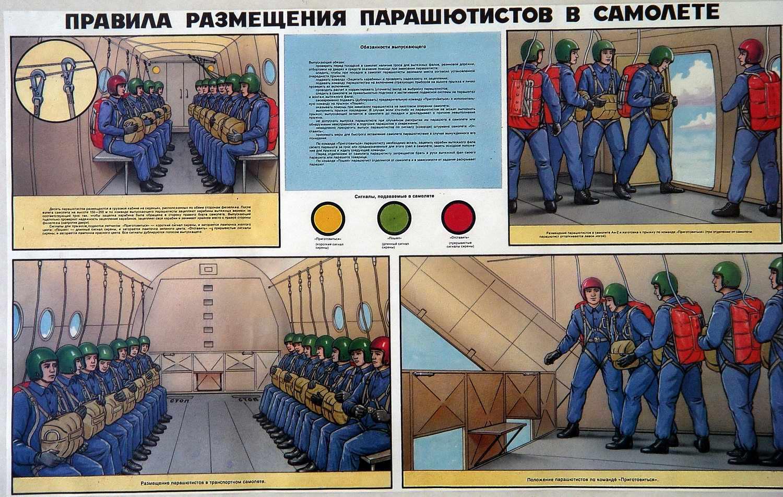 Правила размещения парашютистов в