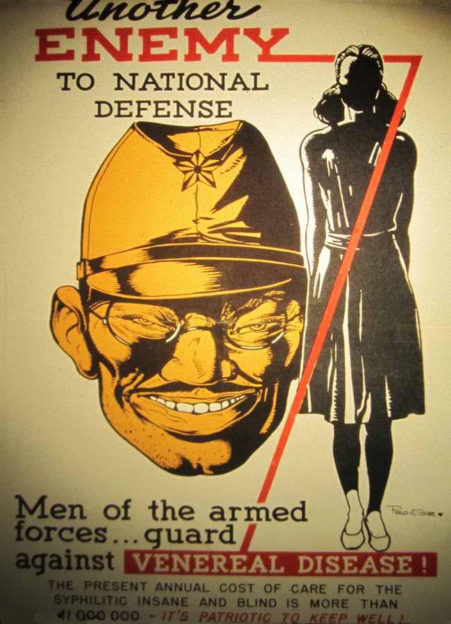Еще один враг нашей нации. Солдаты вооруженных сил, защитите себя от венерических заболеваний