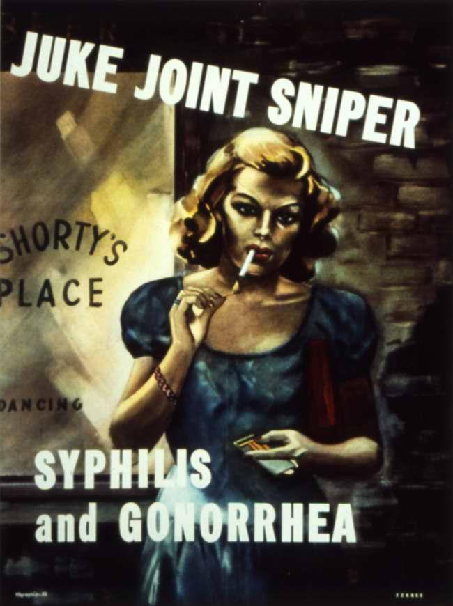 Она является метким снайпером в деле распространения сифилиса и гонореи