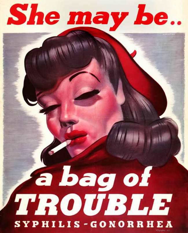 Она может ... принести массу неприятностей - сифилис и гонорею