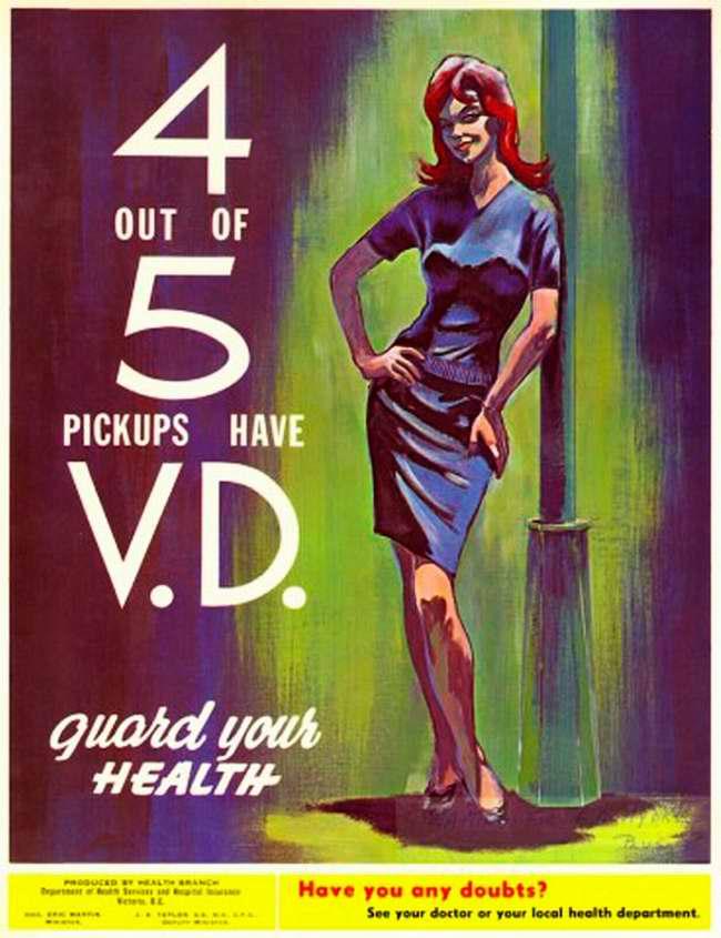 4 из 5 случайных связей оборачиваются заражением венерическими заболеваниями. Защити свое здоровье